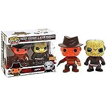 Funko - Figurine Horror - 2-Pack Jason & Freddy Bloody Version Exclu Pop 10cm - 0889698121156