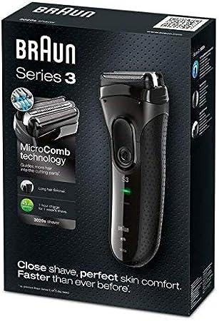 Braun 3020S Afeitadora eléctrica, plastico, Negro, 22,2