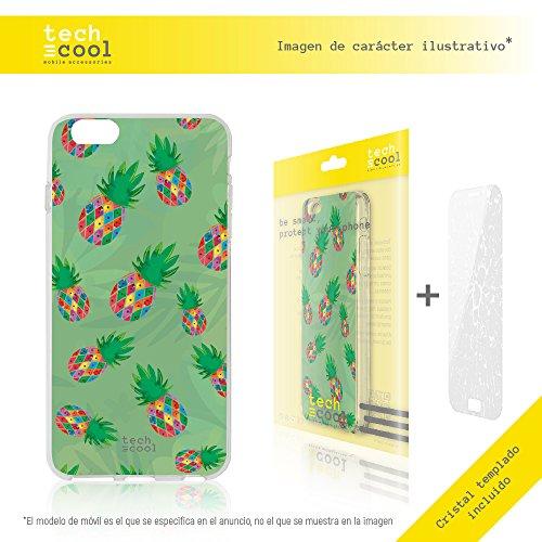 Iphone 6 / 6S Coque, Funnytech® Housse premium Souple TPU Silicone pour Iphone 6 / 6S + Verre trempe l [couleurs très vives] [Design exclusif, Impression haute définition] [1.5mm] [Antichoc] [Souple]
