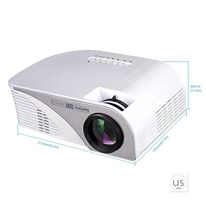 Amazon.com: Rigal RD805B Mini LED Projector Portable 800480 ...