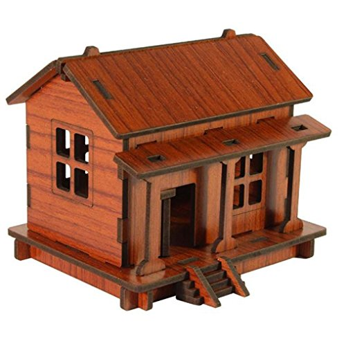 Diy 2 Person Costume (OVERMAL DIY House 3D Puzzle Toys Wooden Adult Children Intelligence)