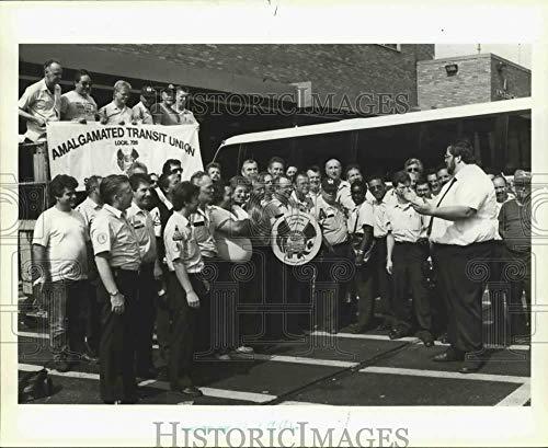 1991 Press Photo Amalgamated Transit Union President Larry Hanley & ()