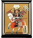 五月人形 吉徳 子供大将飾り 武者人形 ケース飾り 7号 馬乗大将 h315-ys-503505