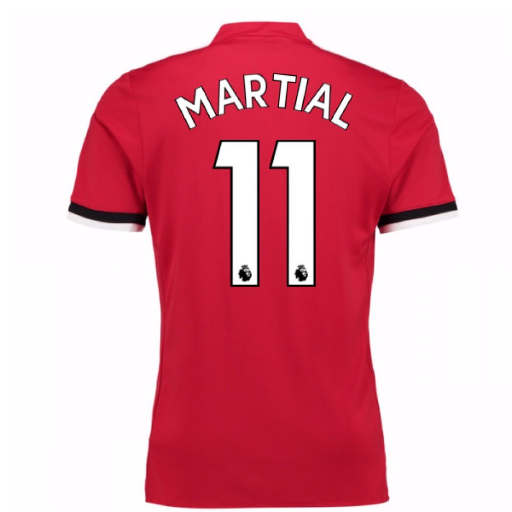2017-2018 Man United Home Football Soccer T-Shirt Trikot (Anthony Martial 11) - Kids