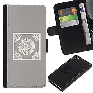 A-type Arte & diseño plástico duro Fundas Cover Cubre Hard Case Cover para Samsung Galaxy S4 (Handicraft Art Drawing White)