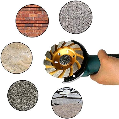 4 Grinding Wheel Concrete Cup Disc Stone Grinder Brick Sharpener Wood Silver US