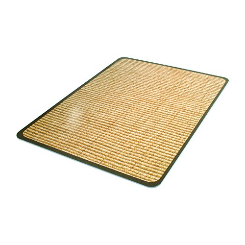 Deflecto DuraMat Decorative Chair Mat, Hard Floor Use, Rectangle, Straight Edge, 36 x 48 Inches, Wool Jute Print (Duramat Vinyl Chair Mat)