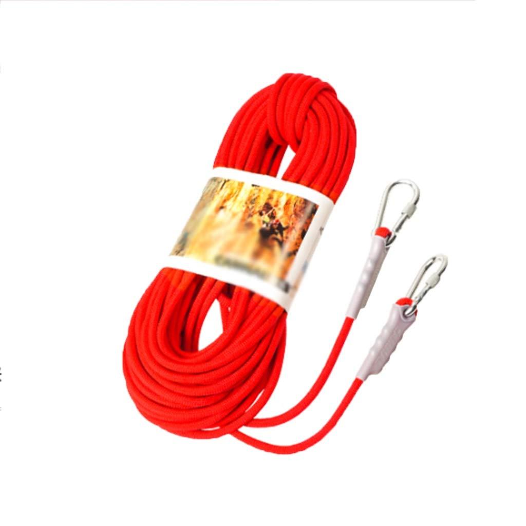 ZHWNGXO ダウンヒル/ケービング/救助/トラクションのために屋外のクライミングロープ、直径9.5ミリメートルの安全ロープ (Color : 赤, Size : 100m) 赤 100m