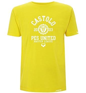 Münk - Castolo PES Pro Evolution Soccer - Camisetas de diseño Retro fútbol Vintage - Muñeco Recortable Gratis: Amazon.es: Ropa y accesorios