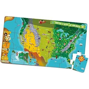 Amazoncom Zanzoon Interactive Map USA English Toys Games - Us map interactive game