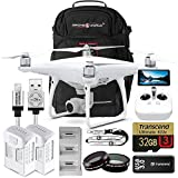 DJI Phantom 4 Advanced + Plus Bundle Upgrade Kit w/ Exclusive Drone World Black Backpack Travel Pack, Lens Filters, 1 Extra Battery (2 Total) Triple Battery Charging Hub, 32 GB and More