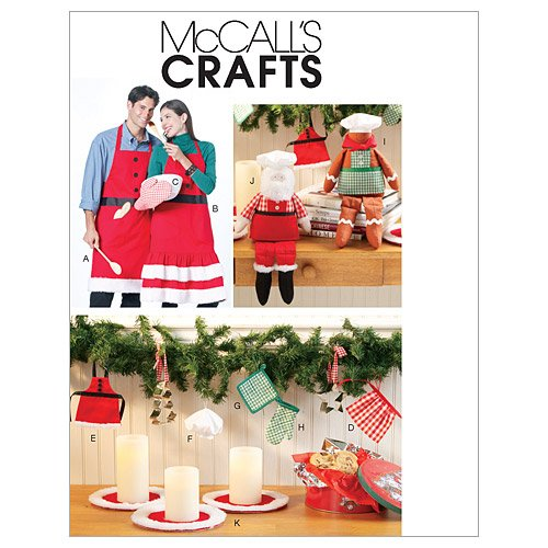 (McCall's Patterns M6219 Aprons and Christmas Decorations)