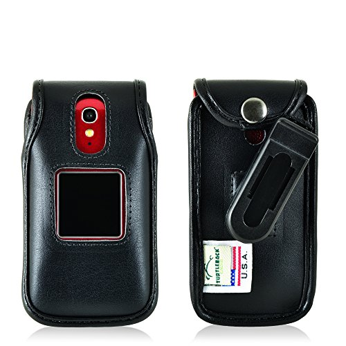 Turtleback Fitted Case for Greatcall Jitterbug Flip Phone Bl