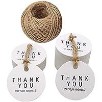 Gracias por su amabilidad Kraft papel Etiquetas, 100unidades