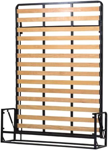 Cama abatible – Cama de dos plazas, vertical 140 cm x 190 cm (cama extraíble, cama plegable, cama abatible)
