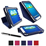 "rooCASE Samsung Galaxy Tab 3 7.0 Case - Origami PU Leather 7-Inch 7"" Cover - NAVY"