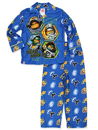 Flannel Coat Style Pajamas - LEGO Nexo Knights Little Boys Flannel Coat Style Pajamas (10-12, Nexo Blue)