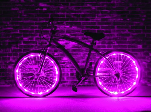 Brightz, Ltd. Pink Wheel Brightz LED Bicycle Light (Bike Tire Lights compare prices)