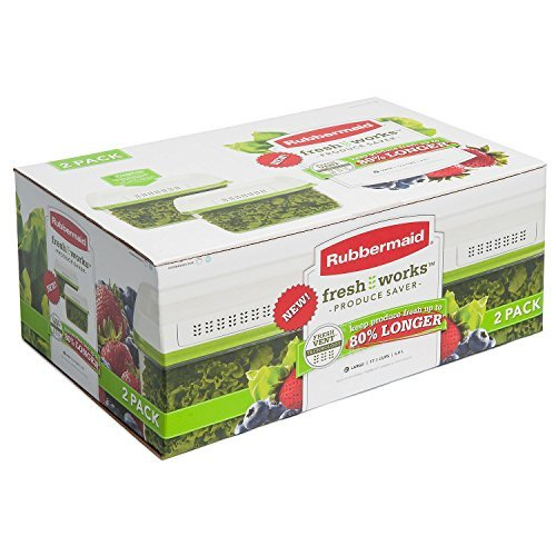 Saver 2 Drawer Shelf Rubbermaid - Rubbermaid Rubbermaid cup freshworks produce saver large green, 1.7 Ounce