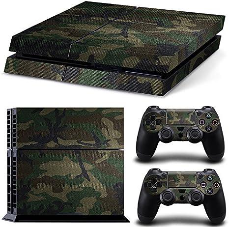 qkonsole PS4 Camuflaje Diseño Skin Sticker Playstation 4 vinilo protector de pantalla – mate: Amazon.es: Electrónica