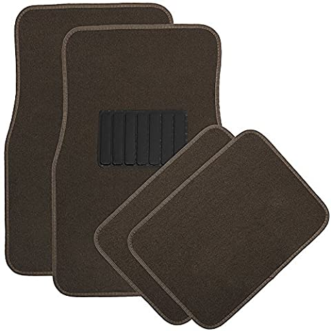 OxGord 4pc Full-Set Carpet Floor Mats, Universal Fit Mat for Car, SUV, Van Trucks - Front Rear, Driver Passenger Seat - Country Van Carpet