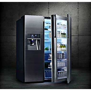 Samsung RH22H9010SG 36 Freestanding Counter Depth Side by Side Refrigerator with 21.5 cu. ft. Capacity (Black Stainless Steel)