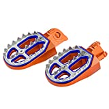 NICECNC Orange Shark Tooth MX Foot Pegs for 690 ENDURO/R,SMC/R 2008-2017 SUPER MOTO/R 2007-2009 250SX 125-530 EXC/EXC-F,350-450XC-F,FREERIDE 250F 2018 250R/350