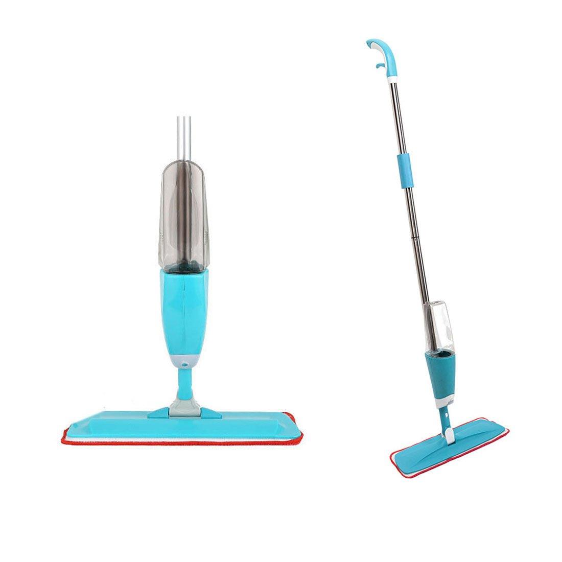 Wenosda Floor Cleaner Mop Microfiber Water Mist Floor Mop With Integrated Spraying for House, Kitchen, Hardwood (Blue)