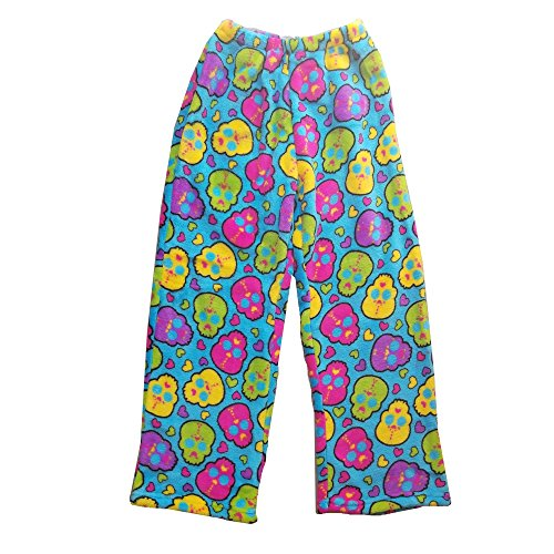 Confetti and Friends Fuzzy Plush Pants - Skull Candy - 14/16