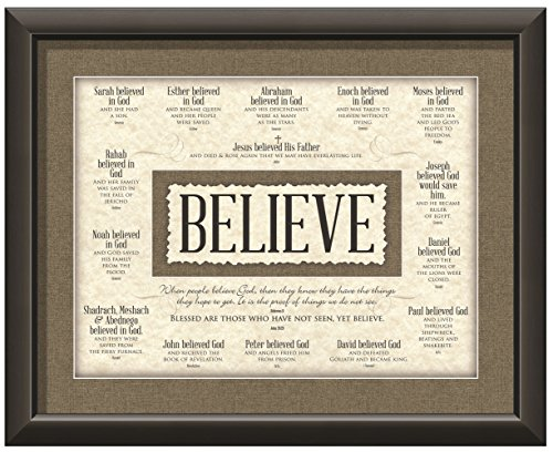Carpentree Believe Framed Art, - inspirational wall art