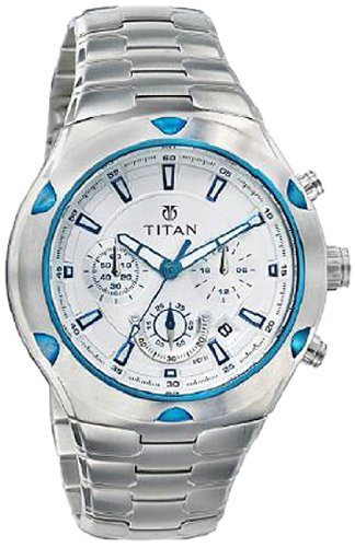 a4af1b11fd2 Buy Titan Octane Chronograph White Dial Men s Watch -NF9468KM01M Online at  Low Prices in India - Amazon.in
