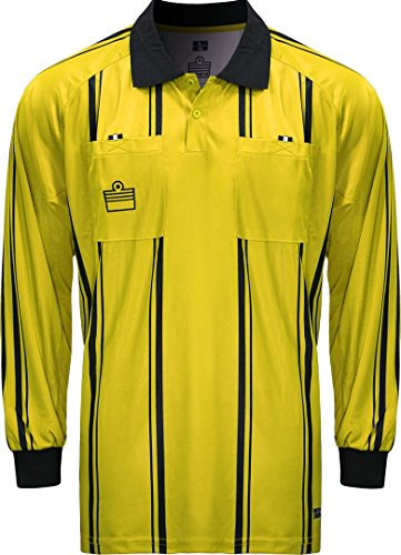 Admiral Long Sleeve Pro Soccer Referee Jersey, Gold/Black, Adult 3X-Large