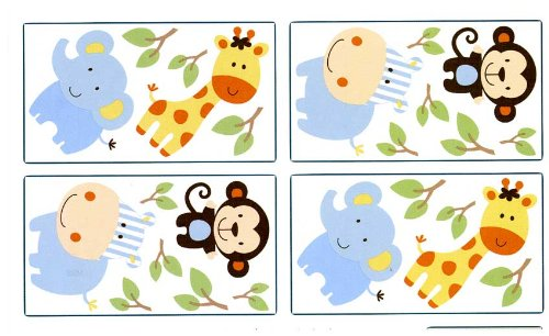 Nojo-Jungle Play Wall Decals Crown Crafts Nojo 3333100