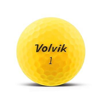 volvik Vivid pelota de golf Mate Amarillo - Individual Impreso con ...