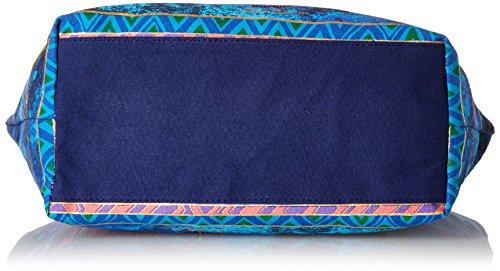 Laurel Burch Laurel Burch Scoop Tote Zipper Top 19 cm x 5 cm x 14 cm, motivo: famiglia di cani
