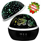 Boys Night Light Projector Lamp,Star Light Projection,Gift for 1-10 Years Old Boys,Cars Gift,Nursery Gift,Boys Toys Gifts (Car&Star Projector)