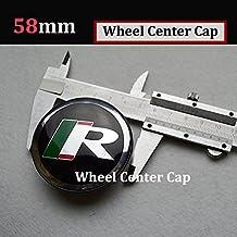 Hanway 58mm Jaguar R Logo Wheel Centre Caps Badge Sticker for Jaguar S-Typer F-Type XF XFR XFR-S XJ XK XKR Wheel Hubs Caps Emblem