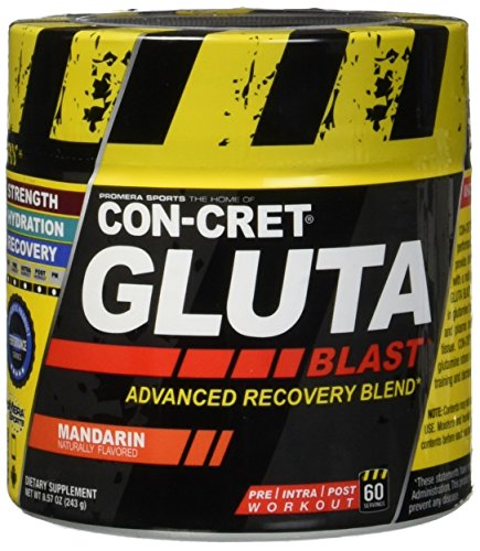 Promera Health Con-Cret Gluta Blast Advanced Recovery Blend, Mandarin, 8.57 Ounce