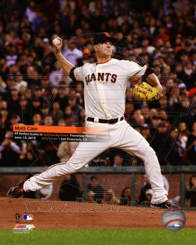 Matt Cain - Throws a Perfect Game June 13, 2012 MLB 8x10 Photo (San Francisco Giants)