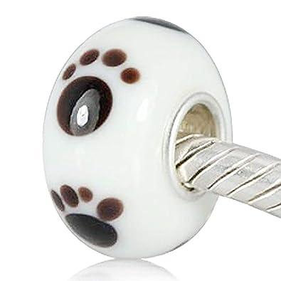 Plata 925 Colgantes Beads con huellas dactilares. Se adapta ...