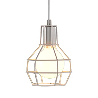 Hexagone Industrielle Lustre 3d Métal Diy Cage Lampe Suspension Fer Ov0N8nmw