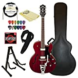 Guild Starfire III w/ GVT CHR-KIT-2 Hollow Body Electric Guitar, Cherry Red