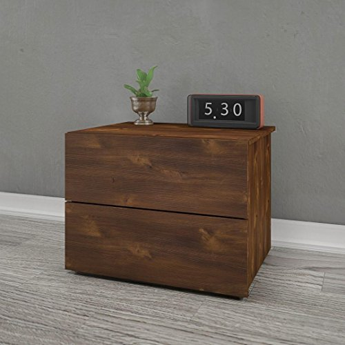 Nexera 341112 2-Drawer Night Stand, Truffle (Truffle Nexera)