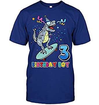 Bluevilyz Its My 3RD Birthday Shirt Dinosaur Party For 3 Year Old BOY Hanes Tagless