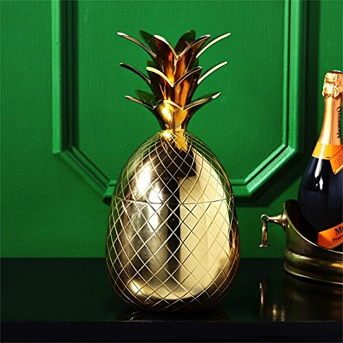 Two's Company Pineapple Ice Bucket, Gold by Two's Company