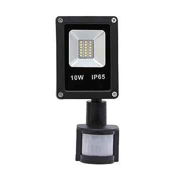HG® 10W Blanco Cálido Foco proyector LED PIR sensor detección de ...