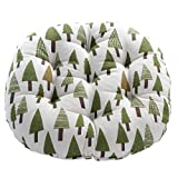 WINOMO Round Floor Pillow Cushion Cotton Linen Pouf Seat Cushion Yoga Window Tatami Home Office Pad (Trees Pattern)