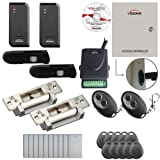 Visionis FPC-6199 Two Door Access Control Electric Strike Fail Safe And Fail Secure TCP/IP RS485 Wiegand Controller Box Software EM TK4100 Card Compatible 10,000 Users Wireless Receiver and PIR Kit
