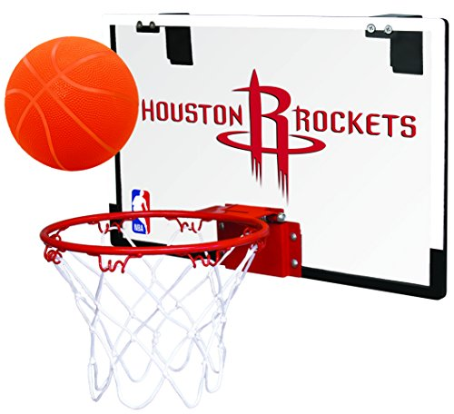 Rawlings NBA Houston Rockets 00664209111NBA Game On Polycarbonate Hoop Set (All Team Options), Red, Youth