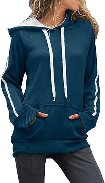 Damen Langarm Pulli Hoodie Sweatshirt Freizeit Kapuze Pullover Mantel Oberteile